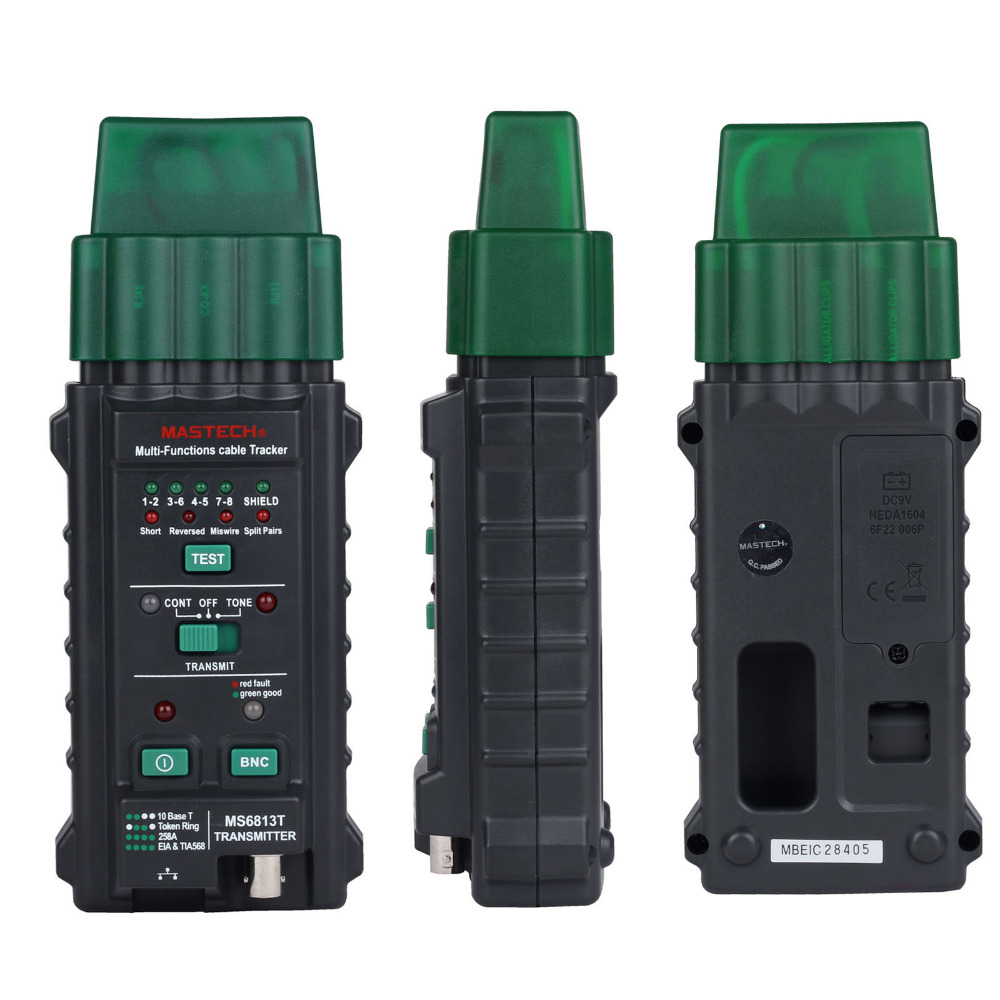 Mastech MS6813 Multifunction Network Cable &amp; Telephone Line Tester Detector Tracker Autoranging multimeter<br>
