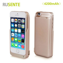 High quality Portable External Battery Charger 4200mAh Power Bank Cover Case For iPhone 5 5s 5c SE Mobile Phone