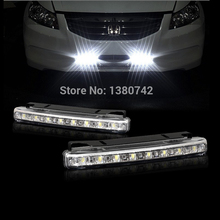 Special offer 8 leds white light to form a complete set of anti fog lamps suv car parking motorcycle trailer truck's headlights