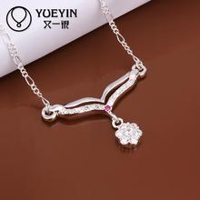 Wholesale silver jewelry hot marketing crystal necklace European and American style jewelry chain necklace jewelry