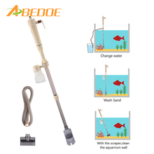 ABEDOE Aquarium Cleaning Gravel Sand Aquarium Cleaner Fish Tank Sand Cleaner 7.9-30 inch Water Level Pump Brush Filter(China)