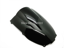 Motorcycle Smoke Double Bubble Abs Windscreen Windshield Wind Deflectors For 2000-2002 Kawasaki Ninja ZX6R