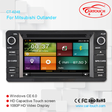 Two Din 6.2 Inch Car DVD Player For MITSUBISHI/OUTLANDER/LANCER/ASX 2013- With 3G Host GPS Navigation BT IPOD Radio Free Maps(China)