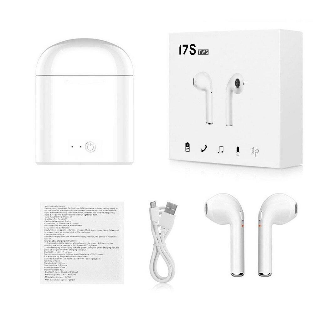 i7s TWS 5.0 Wireless Bluetooth Headphone for Panasonic Toughpad FZ-Y1 Tablet Earphone Music Earbud Charging Box 12