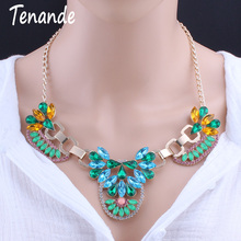 Buy Tenande Bijoux Statement Jewelry Bohemian Gypsy Crystal Necklaces & Pendants Maxi Shiny Rhinestone Choker Necklaces Women Colar for $4.99 in AliExpress store