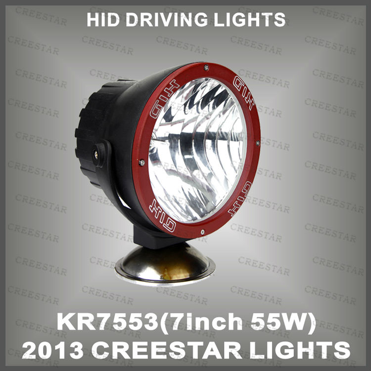 Fog lights driving work offroad spot flood beam 55W H3 bulb 4300Lm xenon lamp HID spotlight  KR7553<br><br>Aliexpress