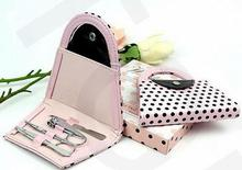 by DHL 100sets/lot New Pink Polka Flip Flop Pedicure Set with Matching Tag Wedding bridal shower favors 10001453(China)