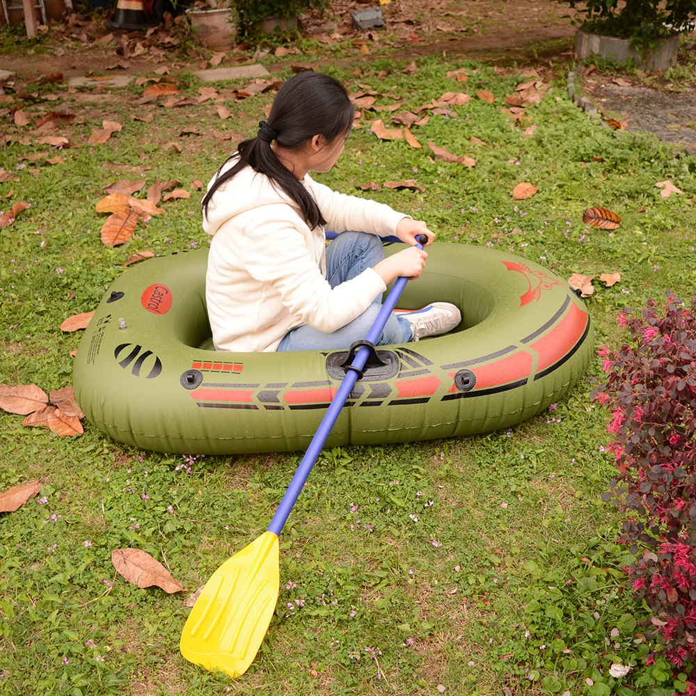 1 Person Inflatable Fishing Boat High Quality Liferaft Rubber Boat 170x100cm PVC Portable Drifting Fishing Boat with Paddles (6)