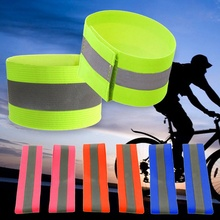 1Pc Sports Safety Luminous Reflective Belt Strap Arm Band Belt Snap Wrap Armband for Outdoor Night Running Cycling Jogging(China)