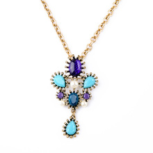 Visions Of Glamour Necklace Casual Long Chain For Women Pendants Decorative Necklaces Gold Color Clothes Bijoux