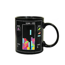 Magic Color Change Creative Morning Mug Tetris The Heat Change Thermal Color Changing Mugs Creative Ceramic Cup For Gift(China)