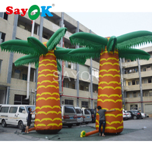 giant inflatable coconut palm light coconut tree with 13 colors for advertising event festive Party decoration