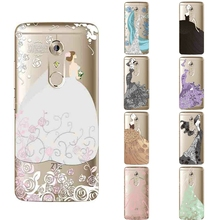 Z-A7M-For ZTE Axon 7 Mini Phone Case 5.2 Inch Transparent Ultra Thin Zte 7 Mini Shell 0.6mm Wedding Dress Pattern Fundas Gel