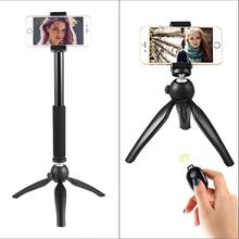 Aluminum Camera Cell Phone Tripod with Bluetooth Remote Control Shutter(China)