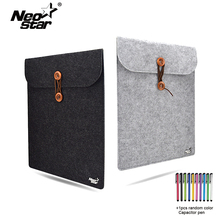 Wool Felt Laptop Sleeve Bag For Macbook Air Pro Retina 11 13 15 Notebook Case Pouch For Mac Computer Cover Handbag