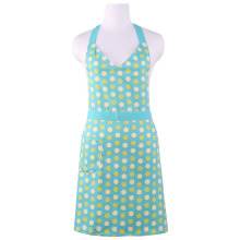 Neoviva Cotton Twill Hostess Apron for Cooking and Cleaning, Style Michelle, Mama and Me Set Available, Polka Dots Blue