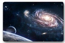 Custom 40x60cm Door Mat For Living Room Planet Galaxy Space Art Doormat Bedroom Rug Floor Mats Christmas Gift