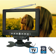 7inch 720P TFT LCD LED Color Analog Small Portable TV with Wide View Angle Support SD/MMC Card USB Flash Disk Outdoor Analog TV(China)