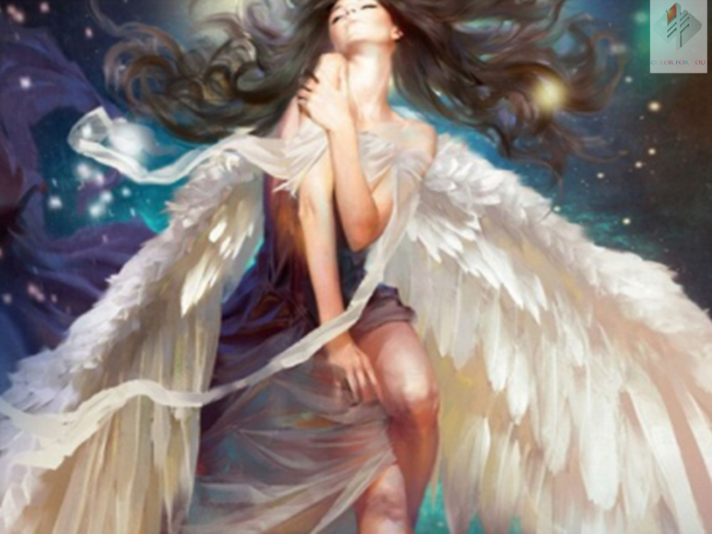 Font Angel Girl Big Wing Diamond Embroidery Painting Online Cheap Angels Cross Stitch Aliexpress Alibaba Group