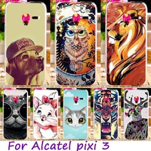 Mobile Phone Case For Alcatel OneTouch Pixi 3 4027 4028 5017D 5019D 5015 4027X 4027D 4027N 4028A 4028E 4028D 5017X Back Cover