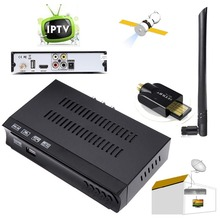 HD Digital Satellite IPTV Set Top BOX TV Receiver PVR Record Timeshift Youtbe Internet IKS DVB-S2 DVB-S + 6Dbi USB Wifi Adapter