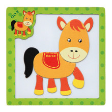 High Quality Wooden Magnetic Puzzle Educational Developmental Baby Kids Training Toy Free Shipping