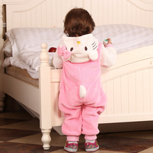 Baby Boy Girl Hooded Rompers Animal Cosplay Costume Newborn Infant Jumpsuit Kitty Cat Clothes