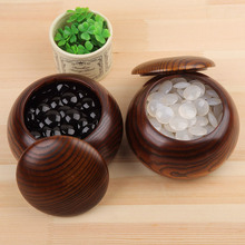 New 2pcs Quality Solid Wood Go Cans Storage Bottles with Cover The Game Box Natural Wooden(China)