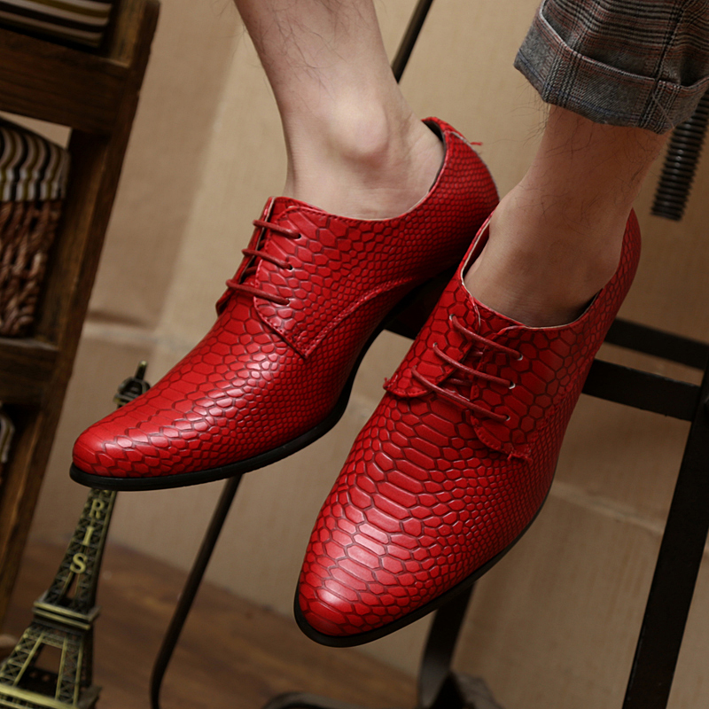 height increasing snake skin men shoes luxury brand italian formal leather male footwear pointed toe brogue oxford shoes for men (65)