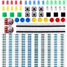 HX-Studio 10pcs/lot Electronics component pack with resistors, LEDs, Switch, Potentiometer for Arduino UNO, MEGA2560(China)