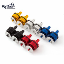 FX CNC Universal Motorcycle 41MM X 37MM Thread Preload Adjusters Fork Bolts Moto Accessories(China)