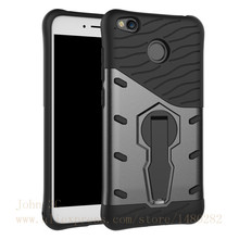 TopArmor For Xiaomi Redmi 4X Phone Case Shock proof 360 swivel Stand Netted heat Armor Anti-knock For Hongmi 4X Phone Cover(China)