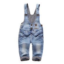 9m-3t 100% Cotton Soft comfortable Infant Baby Long Pants Overalls Girls Boys Jeans Jumpsuit Rompers Toddler Clothes 1864 - Boutique store