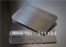 Premium Custom Metal gold or silver Cards Solid stainless steel etched frosted background multicolor raised printing(China)