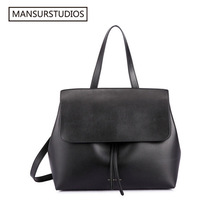 MANSURSTUDIOS classics shouder bag mansur women genuine leather lady bag , lady real leather hand bag,free shipping(China)