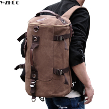 vintage classic canvas bagpack backpacks women men travel bags big capacity shoulder bag pack korean designer backbag rucksack(China)