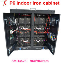960*960mm indoor P6 8scan high refresh full color equipment cabinet display with doors for fix installation(China)