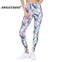 Buy CHRLEISURE S-XL Leaf Print Leggings Women Fashion Elasticity Workout Legins Pants Trousers Big Size Trendy Fitness Leggings for $7.99 in AliExpress store