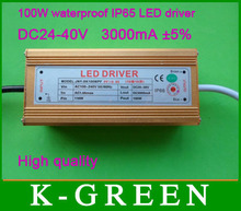 10X Hight quality Outdoor waterproof LED driver 100W input voltage AC100-240V / output 20-38V 3000mA express free shipping