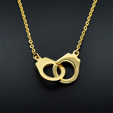 Gold-color Stainless Steel Handcuffs Pendants Necklaces Choker Necklace For Women Statement Jewelry Female Accessiories