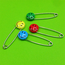 DoreenBeads Colorful Smile Safety Pins Brooches DIY Crafts Sewing Making Findings Ramdom Color 5.5cm, 1 Pack/20 PCs(China)