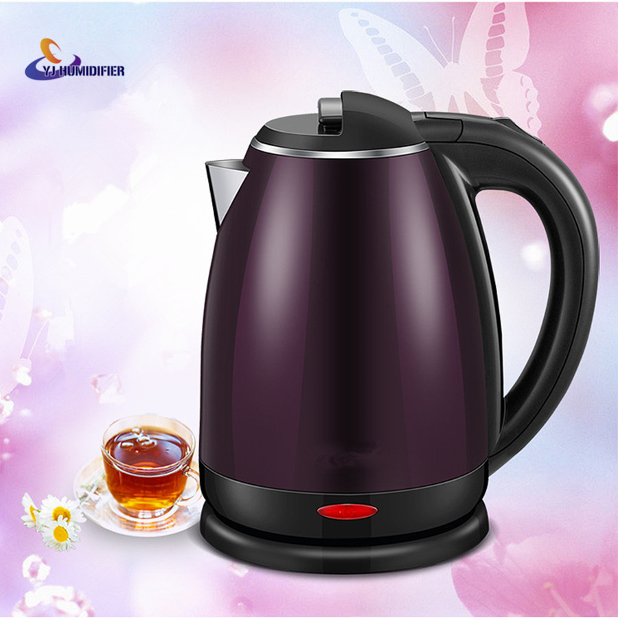 YJ HUMIDIFIER 1.8L Stainless Steel Safety Auto-Off Function Quick Heat Electric Kettle Household Electric Boiling Pot <br>