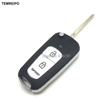 TEMREIPO 2 button Sportage Fodified key shell Car Remote Control Folding Key Blank for Hyundai Elantra Tucson Santa fe