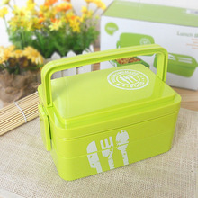 Japanese Style 3 Layers Microwave Lunch Sushi Boxes Insulation Box High Capacity Student Kid Lunch Container(China)