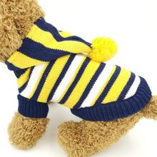 Stripe Small dog Cat Sweater for Pet Dog Jumper Dog Sweater Stripe Dog Pet Clothes XXS XS S M L