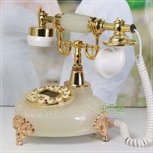 Fashion vintage landline phone home fashion Artificial jade Crafts telephone(China)