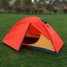 HillMan Tent 20D Silicone Fabric Ultralight 1 Person Double Layers Aluminum Rod Hiking Single Tent 4 Season 2 Colors