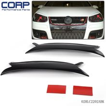 2 pcs Headlight Eyelids For 2006-2009 VW Golf GTI Jetta R32 Rabbit Mk5 Black(China)