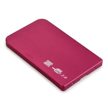 "new fashion  External Enclosure Case for Hard Drive HDD 2.5"" Usb 2.0 Ultra Slim Sata Hdd Portable Case Red"