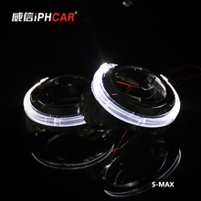 Buy Free IPHCAR Car Styling LHD/RHD Mini Bi-xenon Projector Lens Auto Angel Eyes Light Headlight Retrofit Xenon for $84.99 in AliExpress store